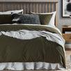 Olive Organic Cotton Quilt Cover Set