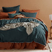 Stone Blue Organic Cotton Quilt Cover Set
