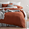 Clay French Linen Quilt Cover Set
