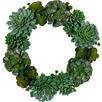 50cm Glitter Succulent Wreath