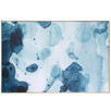 Lexis Blue Framed Canvas Wall Art