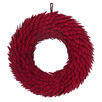45cm Red Faux Wood Chip Christmas Wreath