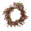 55cm Pine & Red Berry Christmas Wreath