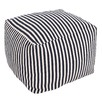 Striped Hamptons Cotton Ottoman Cover