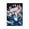Vibrant Protea Profile Framed Printed Wall Art