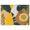 Mustard Summer Collage Framed Canvas Wall Art