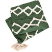 Green Mumbai Cotton Throw