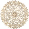 Round Taupe Regal Wood Wall Decor