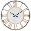 70cm Whitewash Hampton Metal Wall Clock