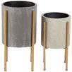 2 Piece Nordic Pot Planters Set
