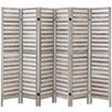 Light Grey 6 Panel Stripy Room Divider