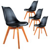 Eames Eiffel Replica Faux Leather Dining Chairs