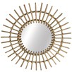 Round Sunshine Cane Willow Mirror