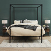 Black Cytus Canopy Bed Frame