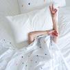 White Spot & Dot Cotton Percale Flat Sheet