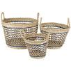 3 Piece Yew Seagrass Basket Set