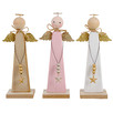 3 Piece Angel Wooden Ornament Set