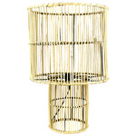 Hub Living Yelena Metal & Rattan Table Lamp
