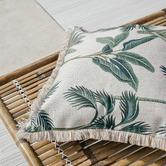 Escape to Paradise Coastal Fringe Del Coco Square Outdoor Cushion