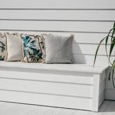 Escape to Paradise White Coastal Fringe Lunar Square Outdoor Cushion