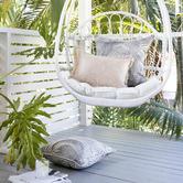 Escape to Paradise Positano Coastal Fringe Rectangular Indoor/Outdoor Cushion