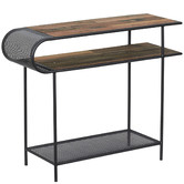 SLH House Natural & Black Aru Reclaimed Wood Console Table