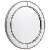 Rexington Home Round Antique Silver Zeta Wall Mirror