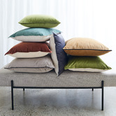Madras Link Mira Leaf Velvet Cushion