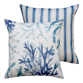 Madras Link Coral Outdoor Cushion