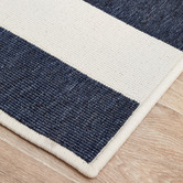Network Rugs Navy & White Striped Power-Loomed Outdoor Rug