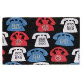 Solemate Door Mats Multi-Coloured Phones Coir Doormat