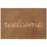 Solemate Door Mats Natural Embossed Welcome Coir Doormat
