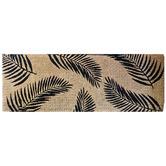 Solemate Door Mats Black Fern Coconut Coir Doormat