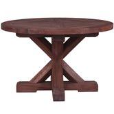 Elegant Designs Round Trestle Mahogany Dining Table