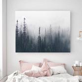 A La Mode Studio Enveloped Forest Canvas Wall Art
