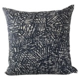 Vintage Beach Shack Indigo Palmeria Cotton Cushion