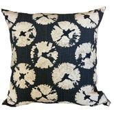Vintage Beach Shack Indigo Sand Dollar Cotton Cushion