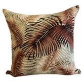 Vintage Beach Shack Bronze Palm Cotton Cushion