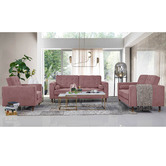 Mikasa Furniture Pink Cherry Velvet Armchair