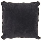 NSW Leather Suede & Lambswool Cushion