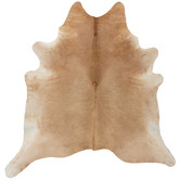 NSW Leather Beige & White Cowhide Rug