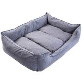 Home Ready Grey Husk Dog Suede Sofa