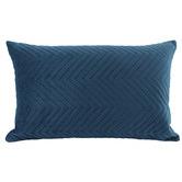Nicholas Agency & Co Quilted Rectangular Velvet Cushion