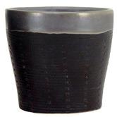 Nicholas Agency & Co Black Maya Ceramic Planter Pot