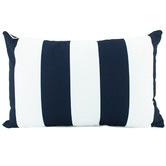Nicholas Agency & Co Navy Striped Deniece Lumbar Cushion