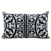 Nicholas Agency & Co Hamptons Geometric Rectangular Linen-Blend Cushion