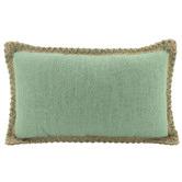 Nicholas Agency & Co Trimmed Border Rectangular Linen-Blend Cushion