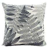 Nicholas Agency & Co Black & White Ferns Linen-Blend Cushion