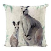 Nicholas Agency & Co Kangaroos Linen-Blend Cushion