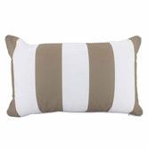 Nicholas Agency & Co Stripe Lumbar Outdoor Cushion